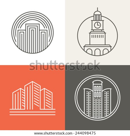 vector buildings and houses