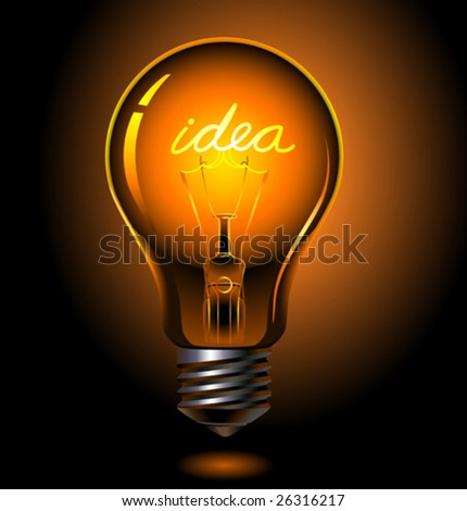 vector bulb consept, idea is lighting
