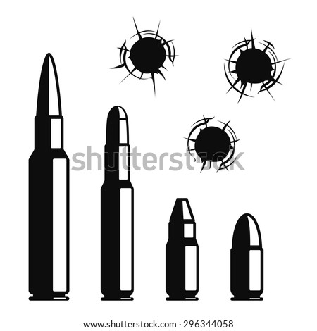 vector bullet holes set
