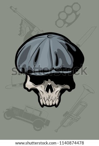 vector bully skull