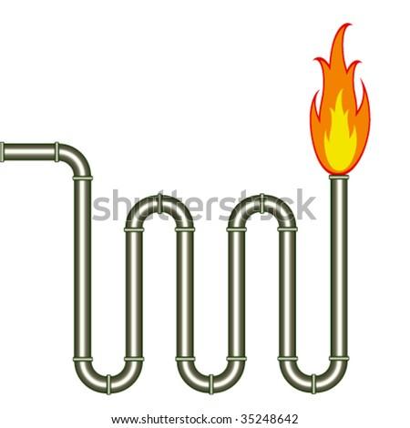 vector burning pipe