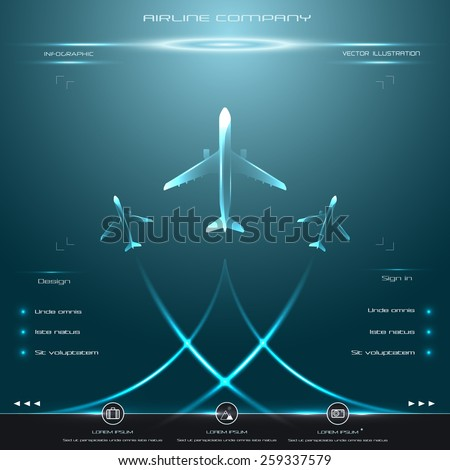 vector business avia card with