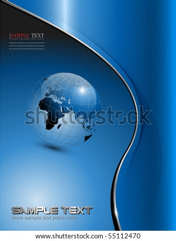 vector business background blue