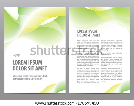 Stylish Green Wave Brochure Design Template Download Free Vector
