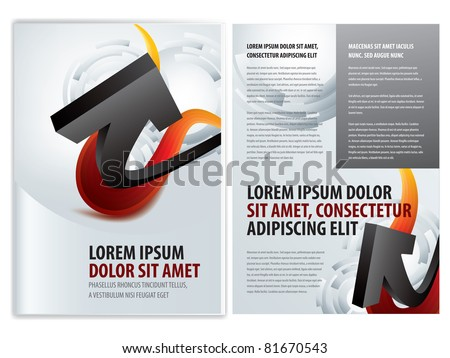 vector business brochure (booklet) template