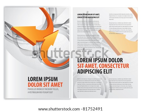 vector business brochure (booklet) template - stock vector