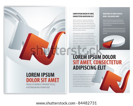 vector business brochure, booklet template - stock vector