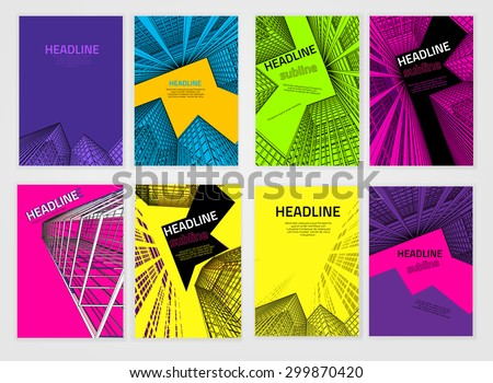 vector business brochure cover