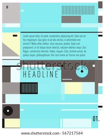 VectorBusiness Brochure design. Annual report vector illustration template. Corporate business catalog and magazine cover. Business presentation with graphic elements.  - Shutterstock ID 567217564