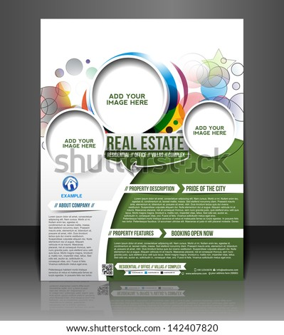 Vector business brochure flyer magazine cover & poster template