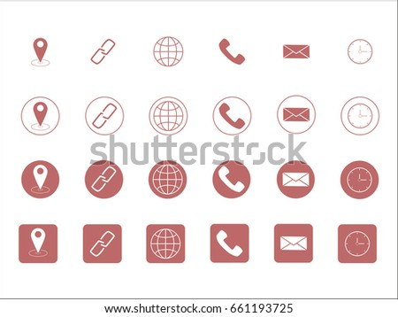 Free Minimal Style Contact Icons Download Free Vector Art Stock