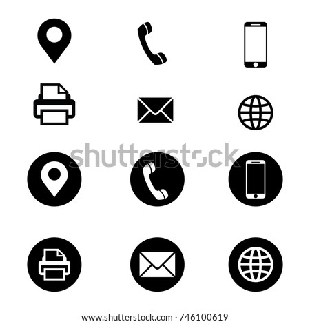 Vector business card icon set
