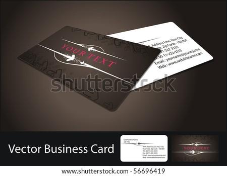 vector business card set,