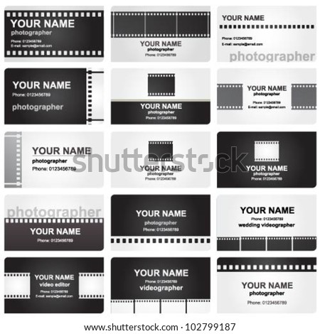 vector business card set for