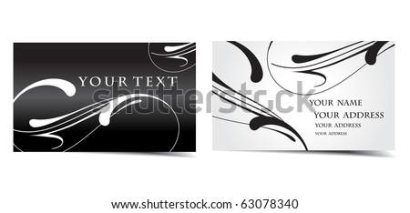 vector business card set, vector design.