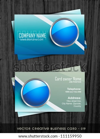 vector business card template set