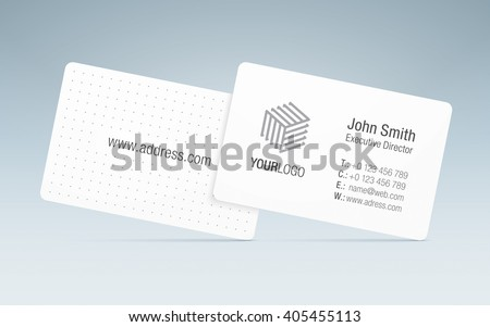 Vector Business Card Template. Sleek Business Card, With Generic ...