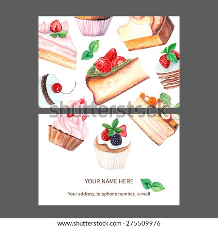 vector business card template. This file can be used for advertising, print design. Visit card, invitation, greeting card.