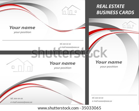 vector business cards  for real estate or construction company