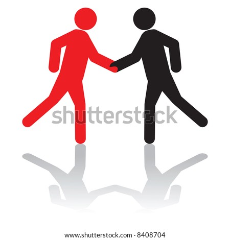 Vector - Business concept - greeting each other,or, shaking hands on a deal