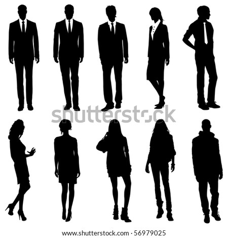 Vector Business/ Fashion Silhouettes - stock vector