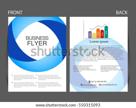 Vector business flyer, magazine cover & poster template