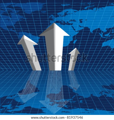 Vector business graph background.
