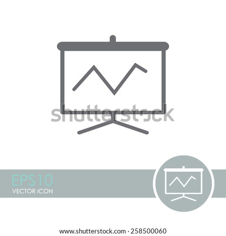 Vector business growing chart presentation icon.