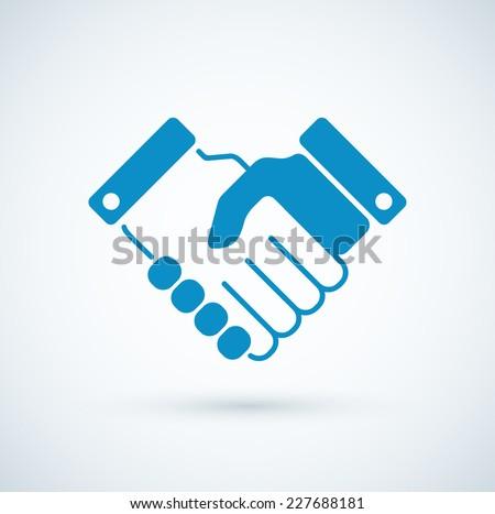 Vector business handshake icon.