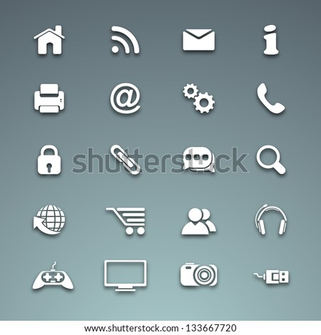 Vector business icon set.