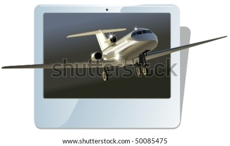 Vector business jet. More vector airplanes see in my portfolio - stock vector