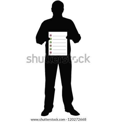 vector business man silhouette - stock vector
