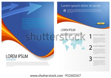 vector business marketing brochure, poster template