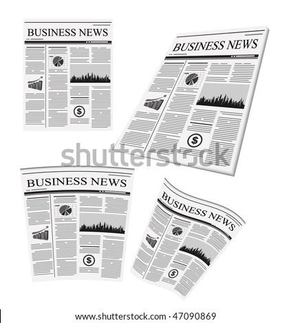 vector business newspaper