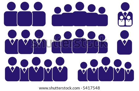 vector business people icons - stock vector