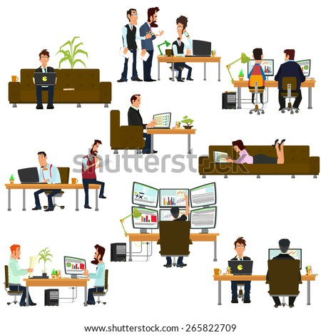 vector business people in flat