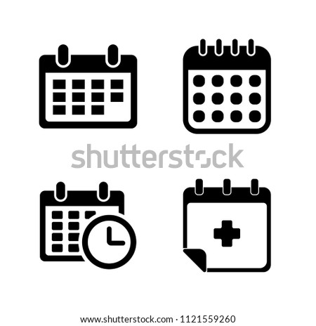 vector business plan illustration isolated - day calendar icons set. time elements