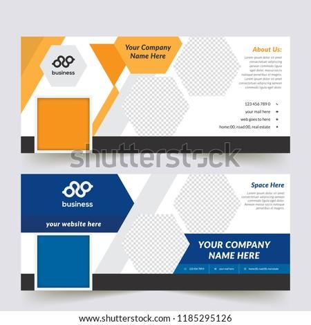 Vector business standard size Web Banners Set. Modern design concept for corporate website advertising.  #1185295126