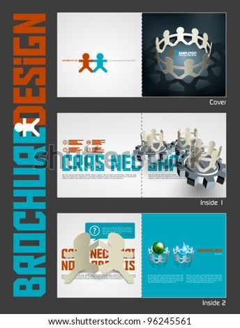 Vector Business Theme Brochure Layout Design Template