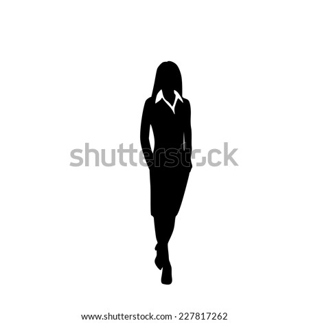 vector business woman black