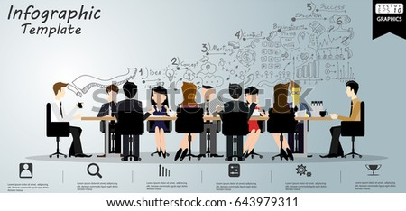 A Group Of People Brainstorming Ideas Illustration