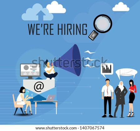 vector bussines for employe hiring