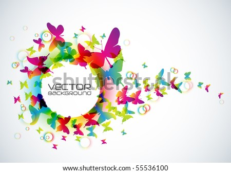 Vector Butterflies Background Design