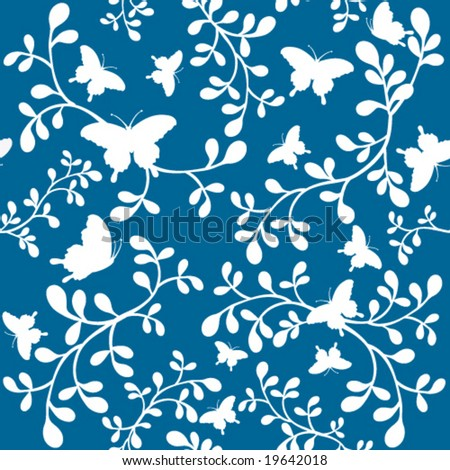 wallpaper blue butterfly. Created in rich teal lue