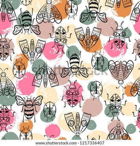 Vector butterflies pattern. seamless background for textile, fabric. clothes, kids joys