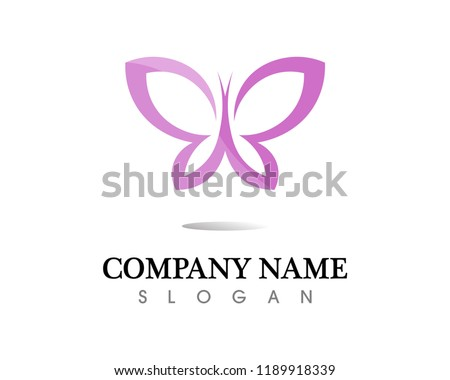 4d3613641 ... Vector - Butterfly conceptual simple, colorful icon. Logo.