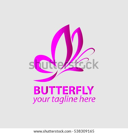 vector butterfly icon logo