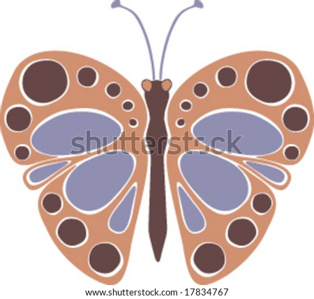 Vector butterfly illustration with spotted wings.