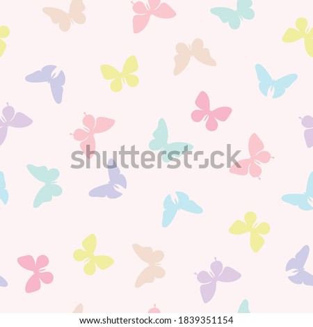 vector butterfly seamless