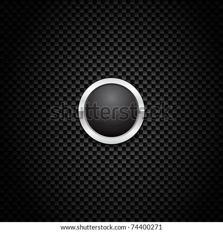 vector button on carbon fiber